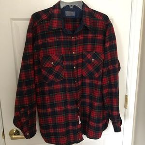 AS IS 1960s Pendleton Wool Flannel Size XL